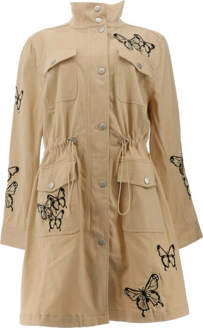 Colleen Lopez Butterfly Anorak Jacket Pockets NEW 687-523