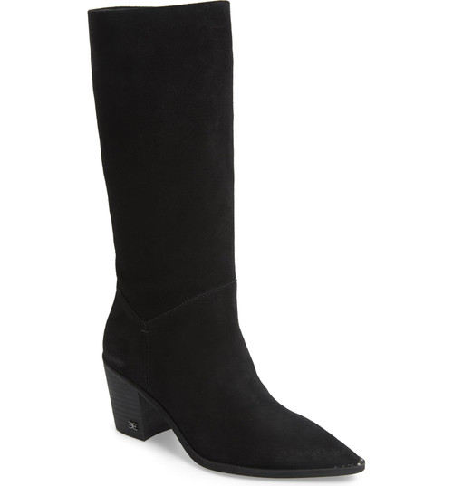 Sam Edelman Leahla Black Heel Boot 7.5M Black NEW