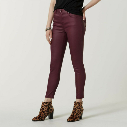 Simply Styled Women's Waxed Jeans 16 Windsor Wine NEW