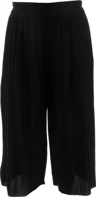 MarlaWynne Pleated Wide-Leg Cropped Pant NEW 711-994