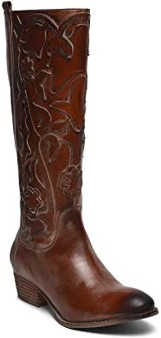 ROAN Women's Ellia Leather Boot 8M Tan Burnished NEW