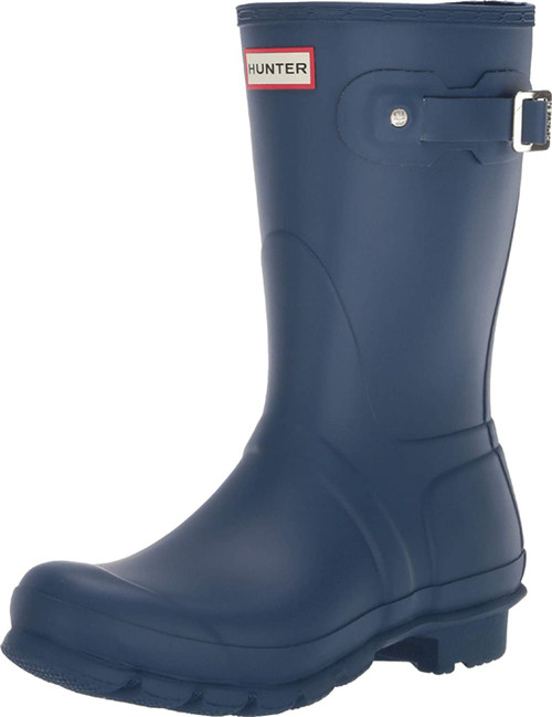 HUNTER Original Short Rain Boots 9M Peak Blue NEW