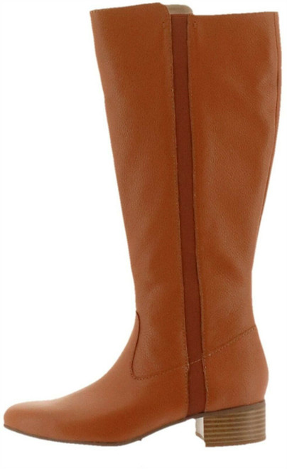 Halston Tall Shaft Leather Boot Goring Sasha NEW A280381