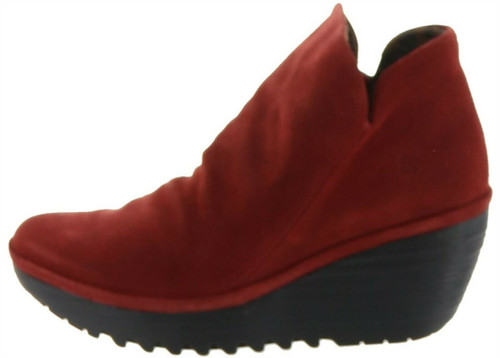FLY London Suede Ruched Ankle Boots Yip NEW A283920