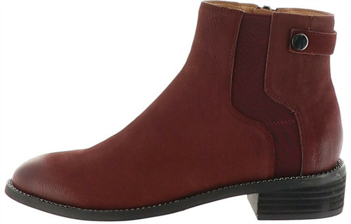 Franco Sarto Leather Ankle Boots Brandy NEW A298312