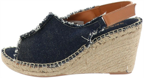 Sesto Meucci Distressed Trim Slingback Wedge NEW S9474