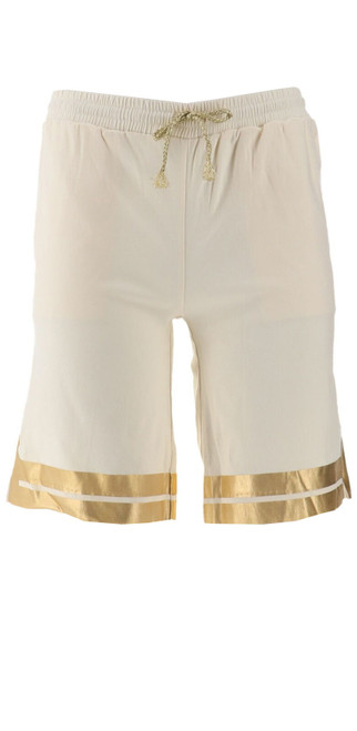 Wendy Williams Gold Foil Bermuda Shorts NEW 478-216