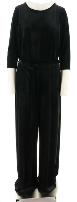 Joan Rivers Length Velour Jumpsuit 3/4 Slvs NEW A298060