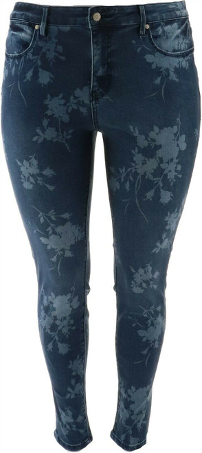 Colleen Lopez Duluth Printed Skinny Jean NEW 695-846