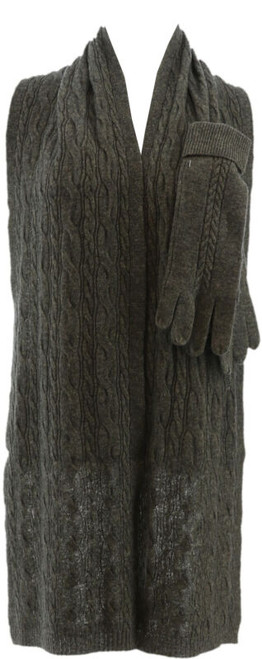 ED On Air Cashmere Blend Glove Scarf Set NEW H207162