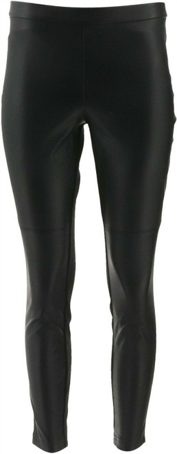 Halston Petite Faux Stretch Leather Ponte Leggings NEW A294047