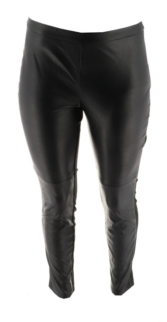 Halston Faux Stretch Leather Ponte Leggings NEW A294046