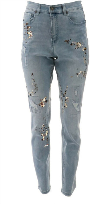 DG2 Diane Gilman Vrtual Stretch Destruct Skiny Jean NEW 714-823