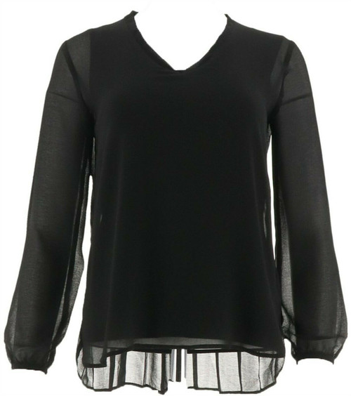 IMAN Runway Chic Luxurious Pleated Top NEW 563-685