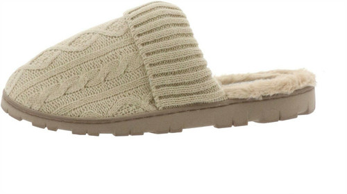 Sporto® Sally2 Knit Slipper Faux Fur Trim NEW 636-334