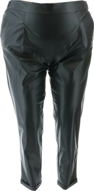 G Giuliana Black Label Faux Leather Pant NEW 711-513