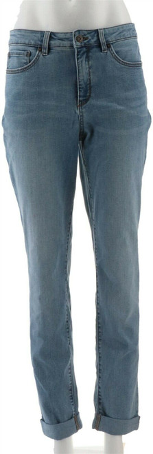 Denim & Co Modern Denim Cuffed Girlfriend Jeans NEW A309727
