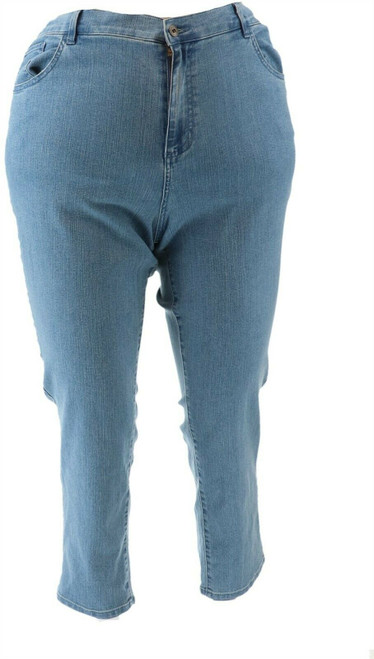 Denim& Co Perfect Denim Straight Ankle Jeans NEW A309756