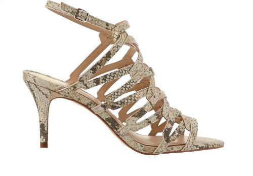 Vince Camuto Phaelyn Leather Strappy Heeled Sandal NEW 653-613