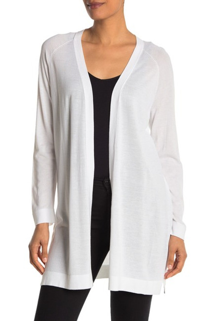 Eileen Fisher Simple Long Cardigan M White NEW