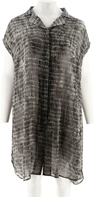 Halston Petite Extended Shoulder Button Duster NEW A303190