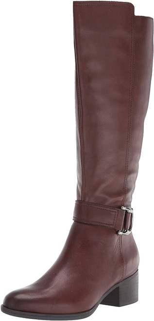 Naturalizer Women's Kelso High Shaft Boots Knee 9M Chocolate NEW