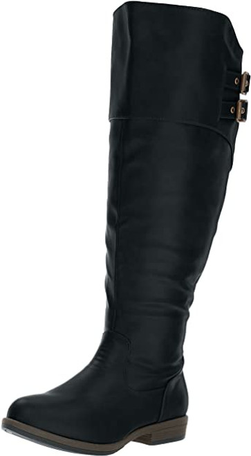 Brinley Co Women's Vega Knee High Boot 8.5 Black NEW