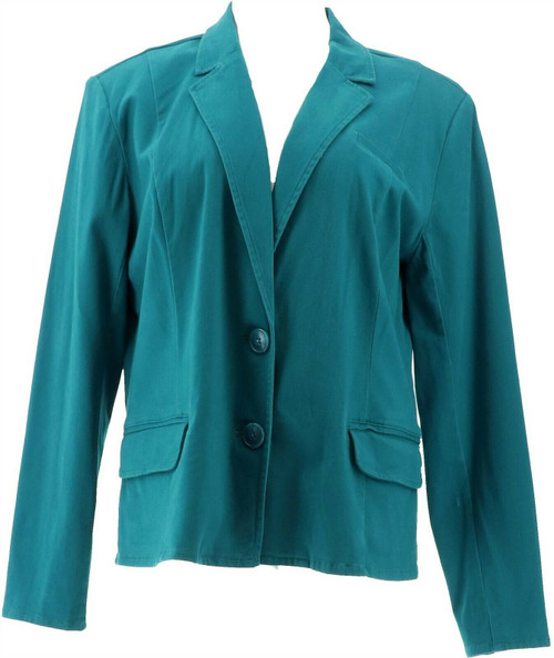 Motto Button-Front Stretch Sateen Blazer NEW 648-770