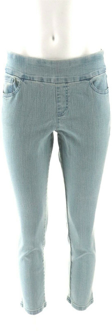 Denim & Co How Smooth Petite Ankle Pant Back Pocket NEW A286112