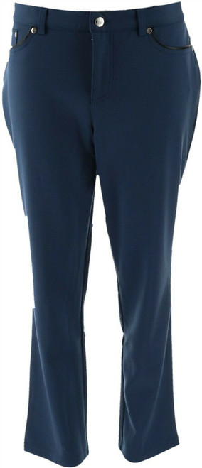 Women with Control Petite Ponte di Roma Pants NEW A270218