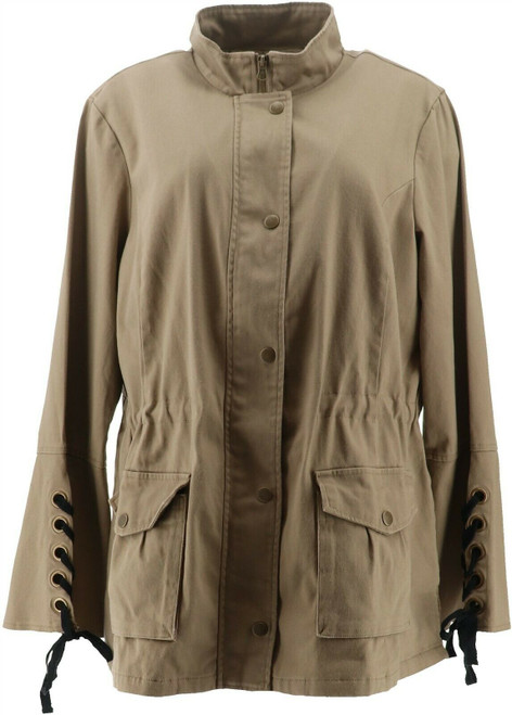 Colleen Lopez Lace-Up Anorak Jacket 638-325
