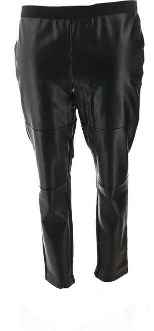 Dennis Basso Mixed Media Ponte Faux Leather Leggings NEW A268821