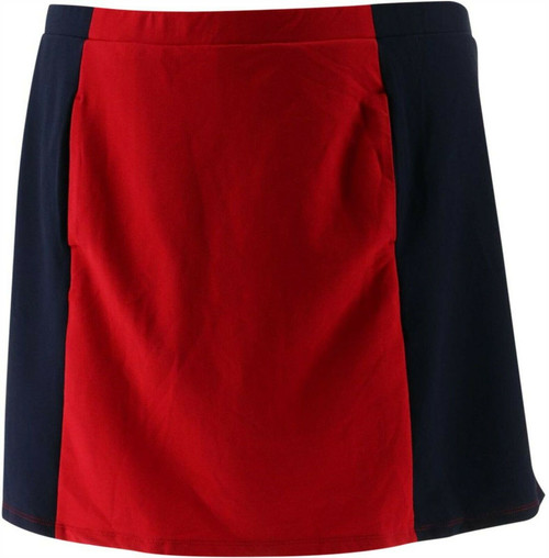 Susan Graver French Terry Color Block Skort NEW A275232