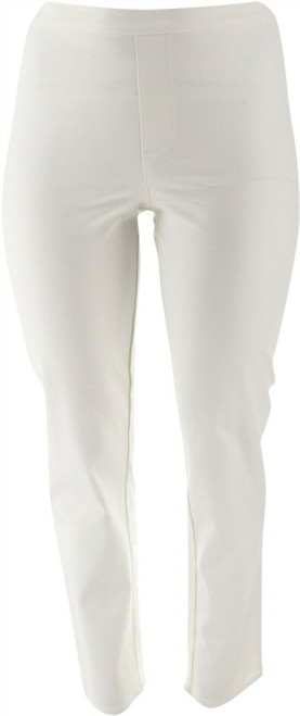 Isaac Mizrahi Tall 24/7 Stretch Ankle Pants Bright White 20 # A302698