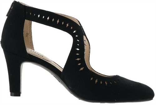 LifeStride Giovanna Perforated Micro-Suede Pump NEW 686-971
