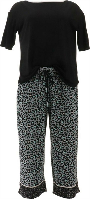 Cuddl Duds Cool Airy Cropped Pant Pajama Set A373982