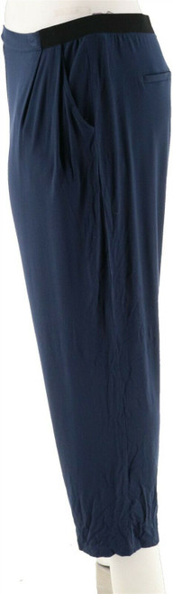 Halston Pull-On Knit Ankle Pants Pockets NEW A280170