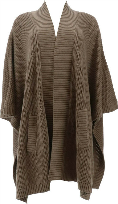 WynneLayers Ribbed Sweater Knit Poncho Topper NEW 711-843