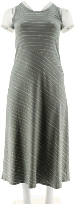 Lisa Rinna Collection Petite Striped Knit Maxi Dress NEW A289007