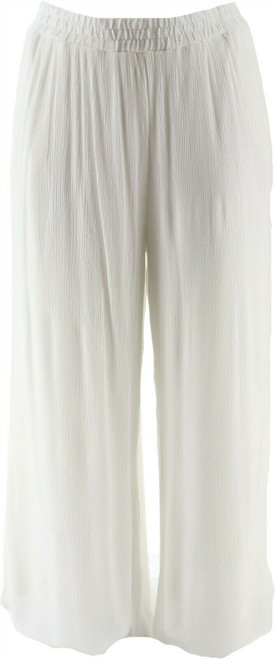Curations Wide-Leg Pant Lined White NEW 638-140