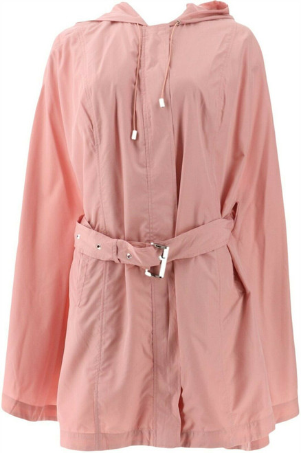 Halston Water Repellant Poncho Anorak Hood NEW A273557