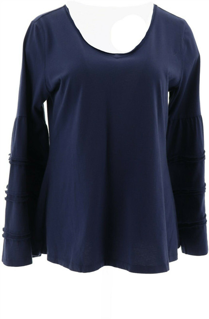 Motto Pima Cotton Tiered Bell-Slv Top NEW 648-629