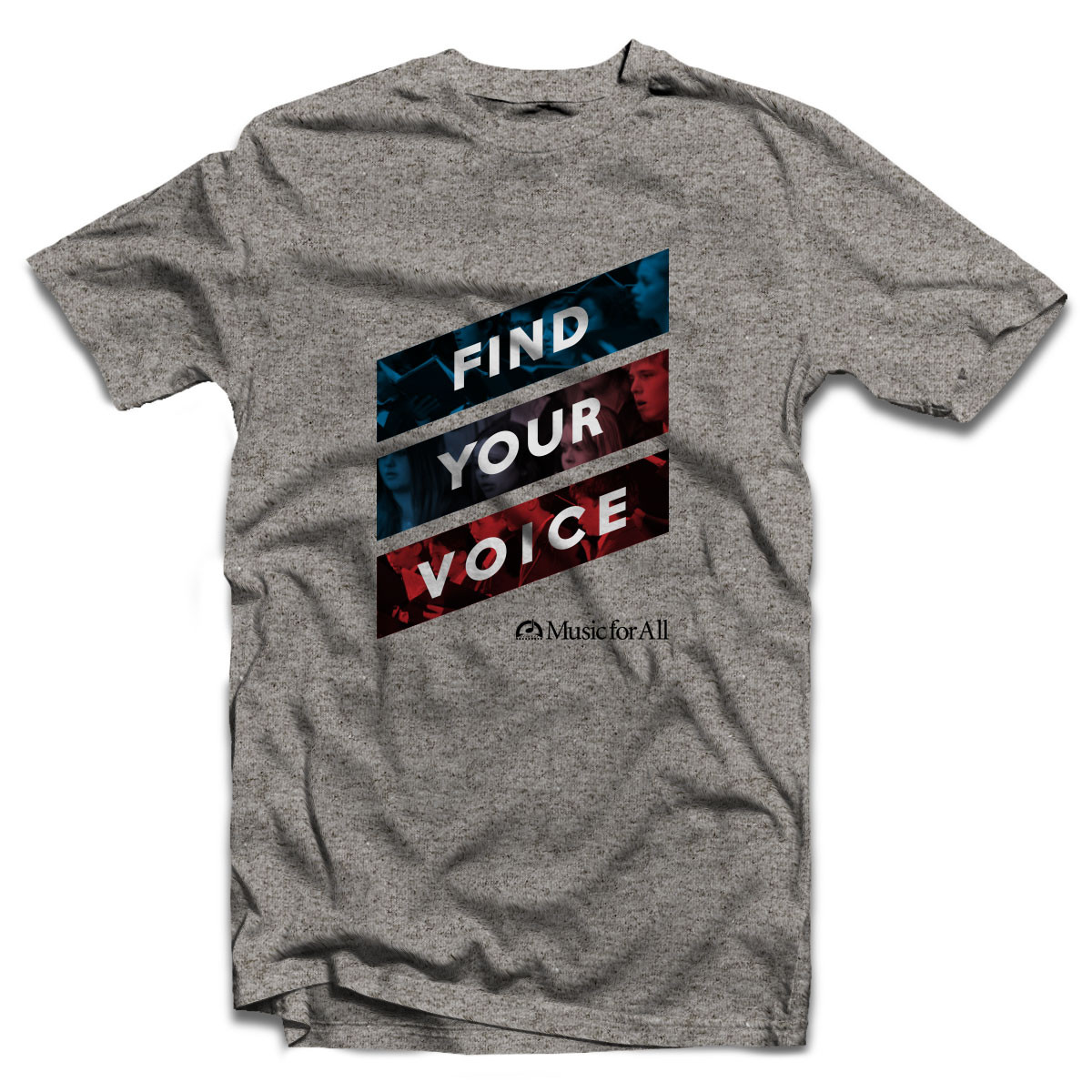 MfA Find Your Voice Heather Grey T-Shirt