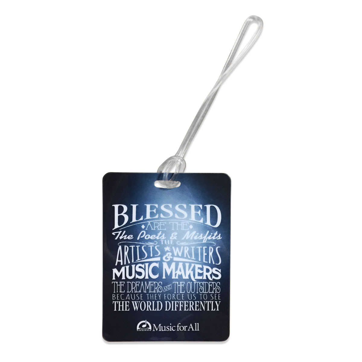 Music for All Blessed Are The Luggage Tag