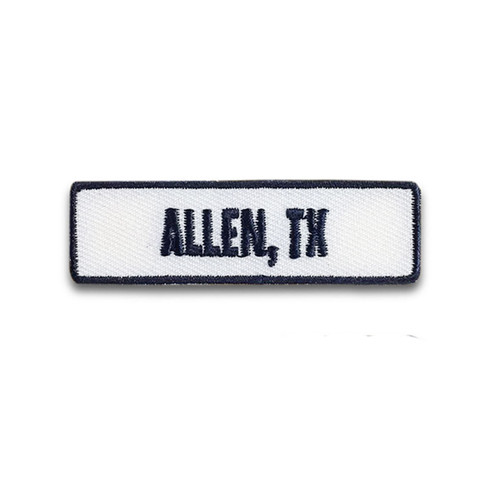 Allen, TX Rocker Patch