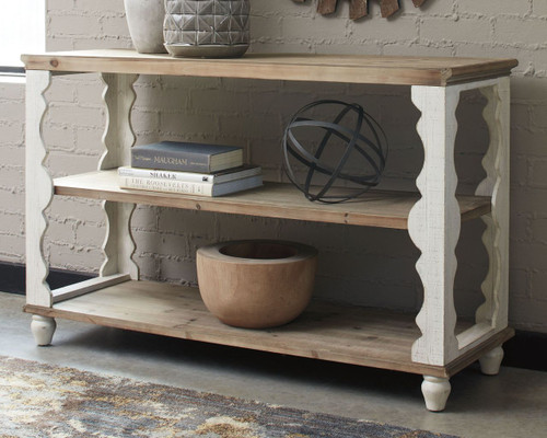 Alwyndale Antique White/Brown Console Sofa Table