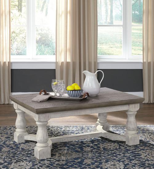 Havalance Gray/White Rectangular Cocktail Table
