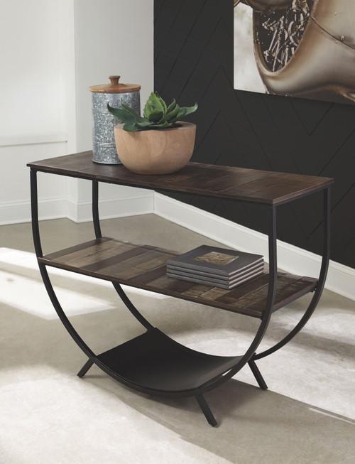 Lamoney Gray/White/Brown Console Sofa Table