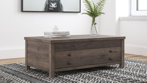 Arlenbry Gray Rect Lift Top Cocktail Table