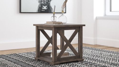 Arlenbry Gray Square End Table
